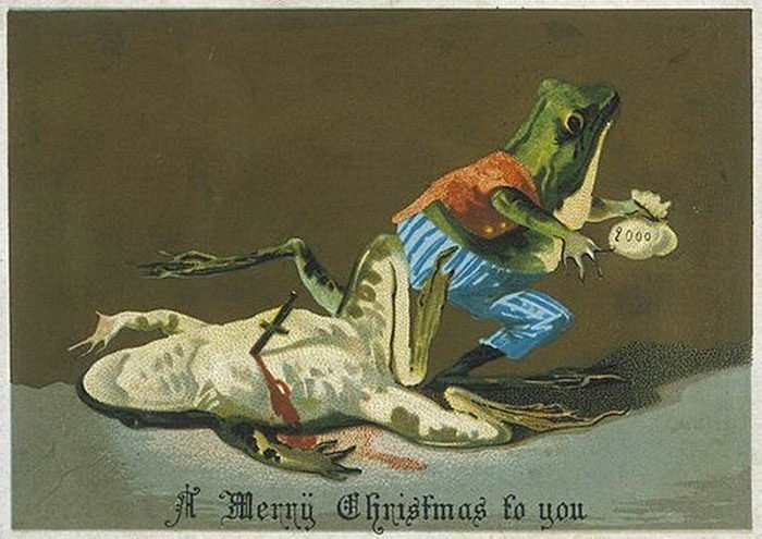 Жуткие рождественские открытки прошлого