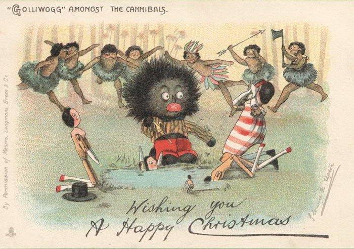 Жуткие рождественские открытки прошлого: