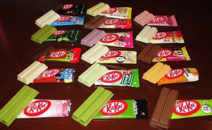 Картинки по запросу Kit Kat Со вкусом чили, картофеля, саке и васаби