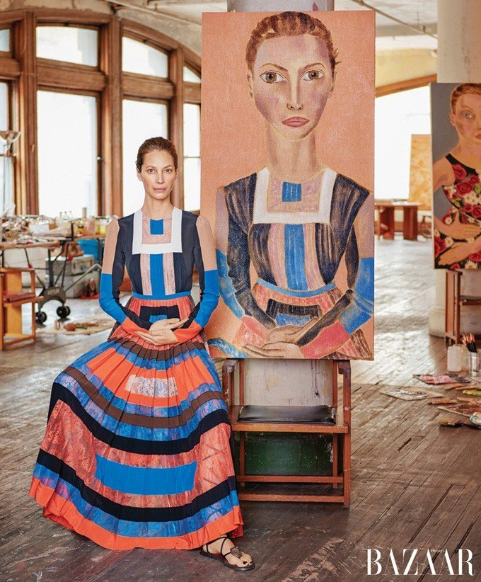 Модели и их портреты в Harpers' Bazaar US