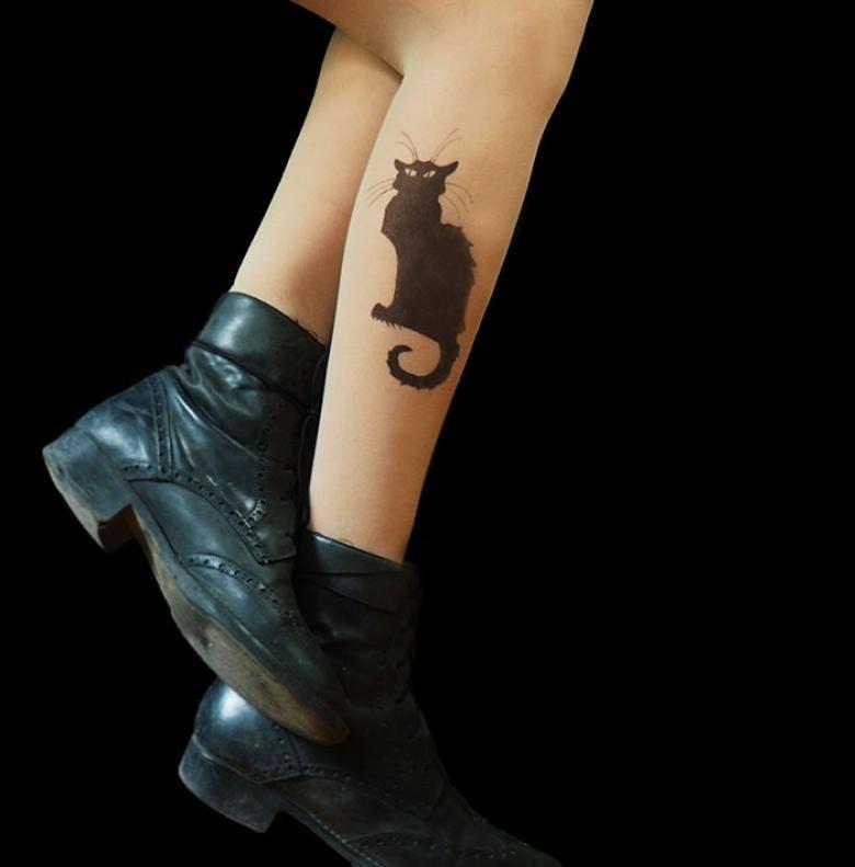 Колготки с имитацией татуировок: