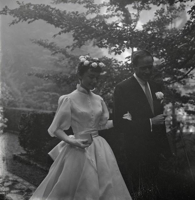 Свадебные фотографии Одри Хепберн