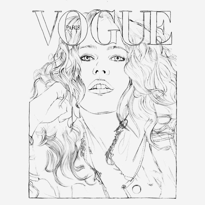 Французский Vogue выпустил модную раскраску для взрослых