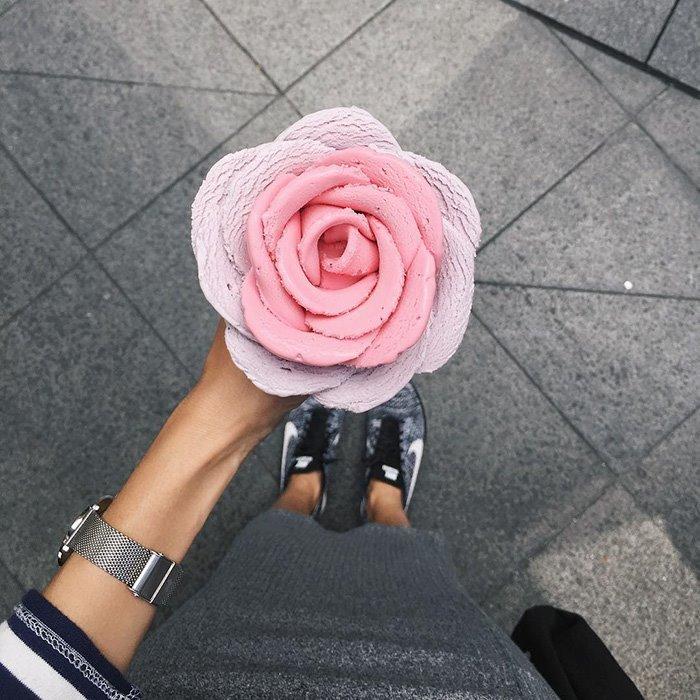 Розы из мороженого даже лучше, чем настоящие