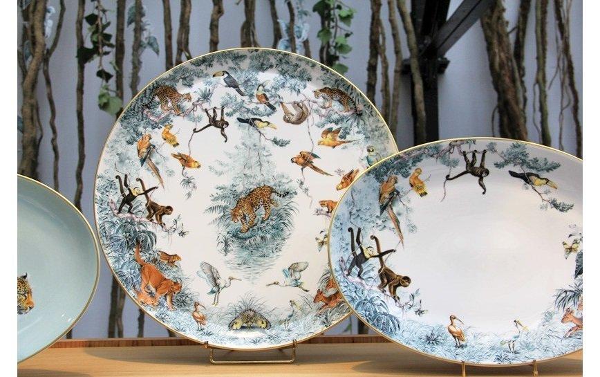 Hermès выпустил посуду с рисунками диких животных