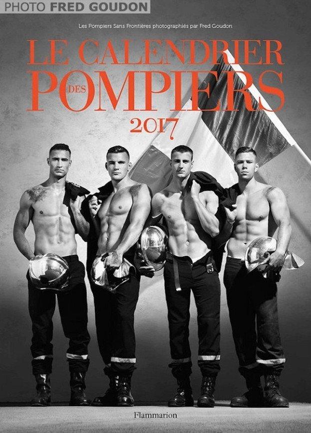Французские пожарные для благотворительного календаря-2017