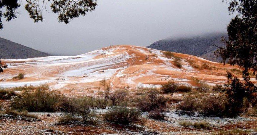 В Сахаре впервые за 37 лет выпал снег:
