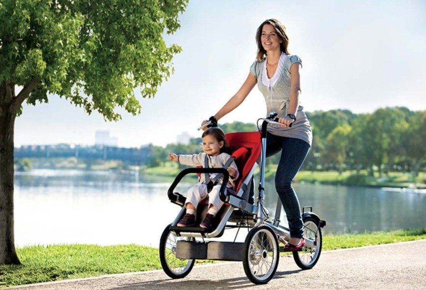 Два в одном: велосипед и детская коляска