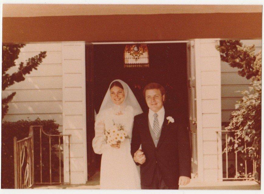 Свадебная мода США 70х годов ХХ века