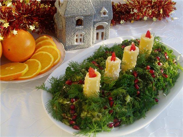 Новогодние салатики фото