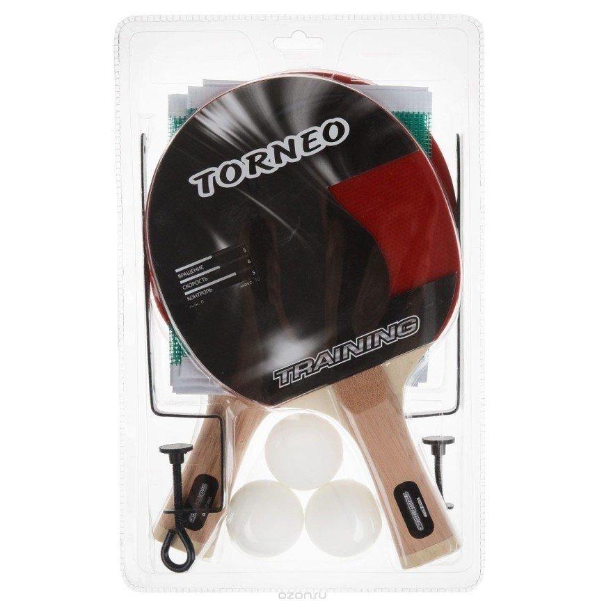 Новый в упаковке Набор для настольного тенниса: сетка и крепления для стола, 2 ракетки, 3 мячика