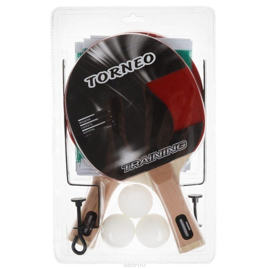 """Новый в упаковке набор """" Все для тенниса"""": сетка с креплениями, 2 ракетки, 3 мяча"""