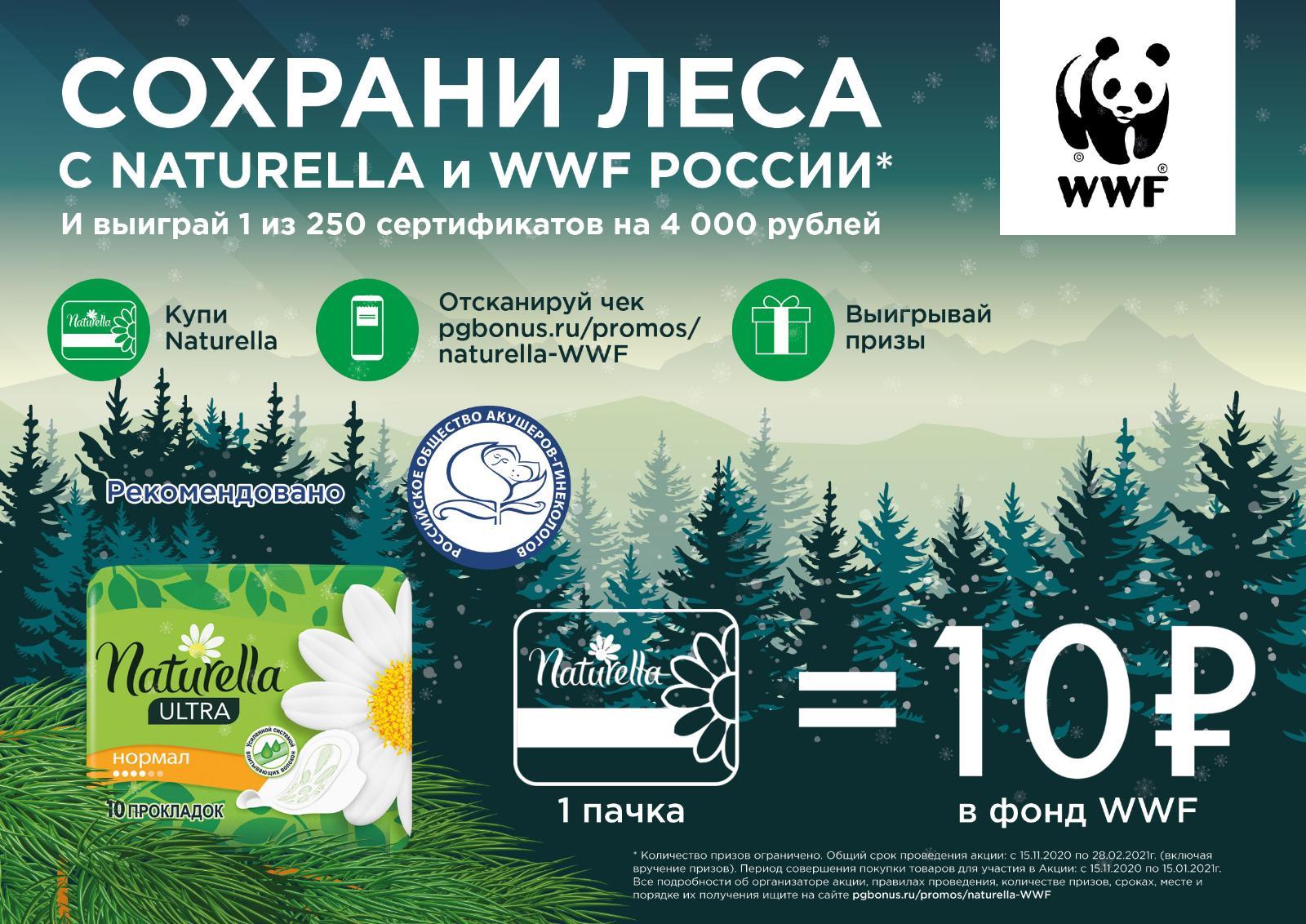 Naturella и WWF России сохраняют леса в национальном парке в Красноярском крае