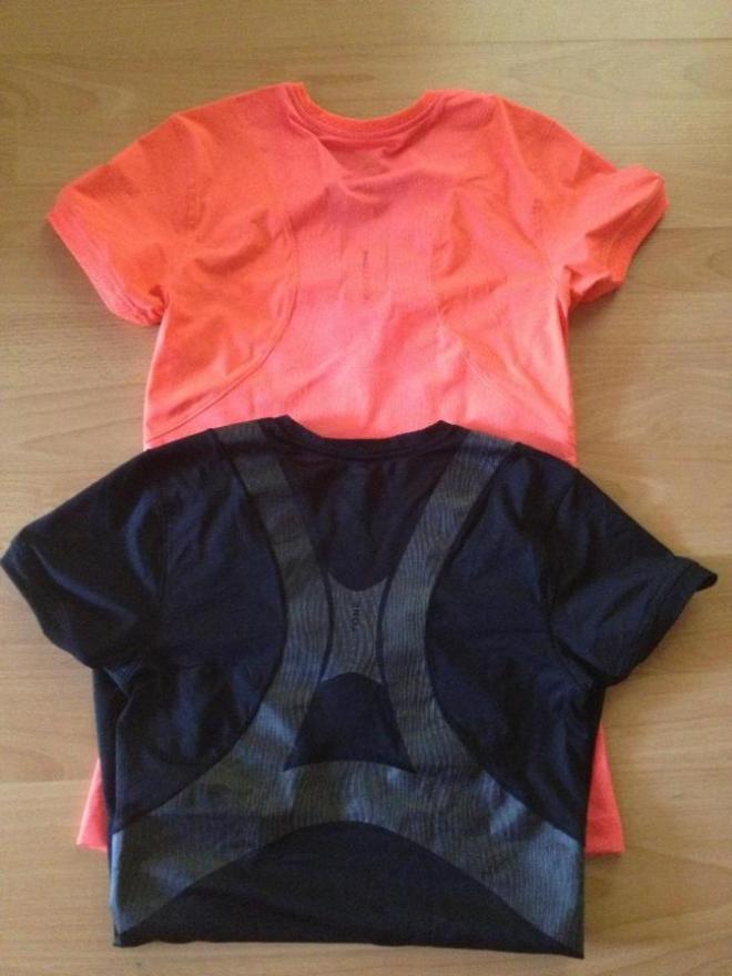 Reebok EasyTone капри S + две футболки M 2500 руб. Капри и корал. футболка НОВЫЕ Черная футболка б/у два раза