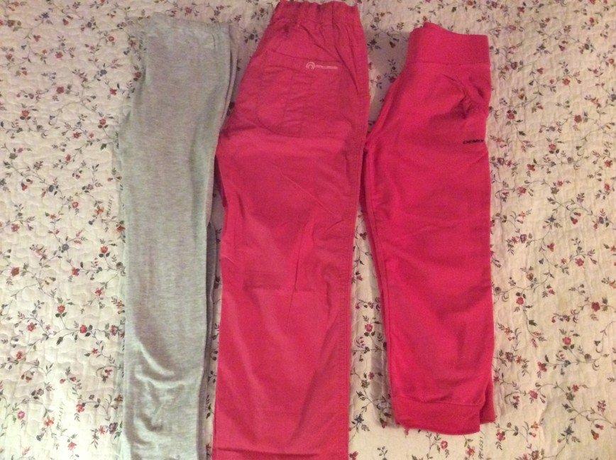 Лосины брюки и бриджи 146( 200, 500 и 300р) Состояние новых
