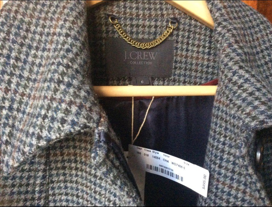 Новое пальто из Америки бренд J.Crev размер 6( наш 42-44) Шерсть100%, цена видна на фото , можно в рублях 28000р