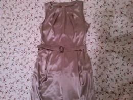 Новое коктейльное платье 42-44раз.из нежного серо-сиреневого атласа с эластаном,единственный экземпляр 1500р