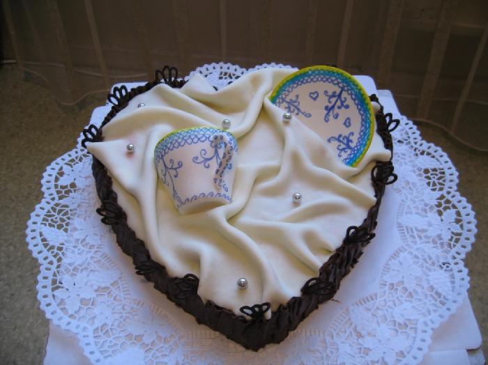 для дачи торт на фарфоровую свадьбу фото рождественским столом