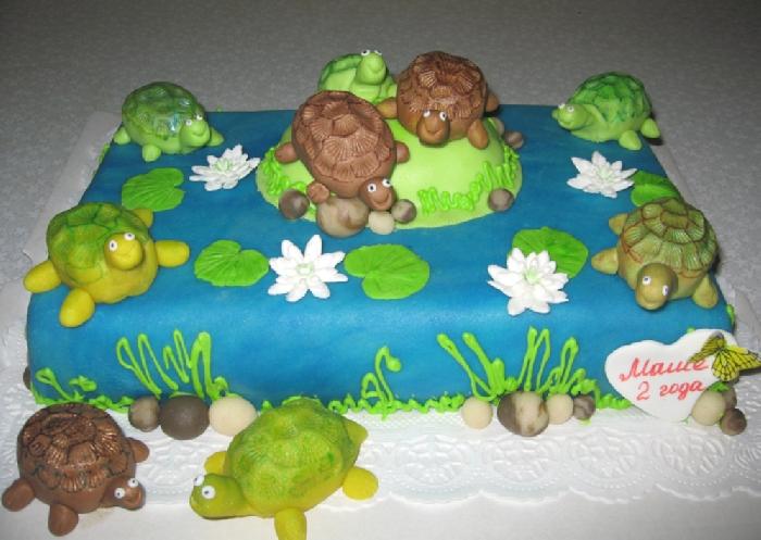 Торт в виде черепашки фото