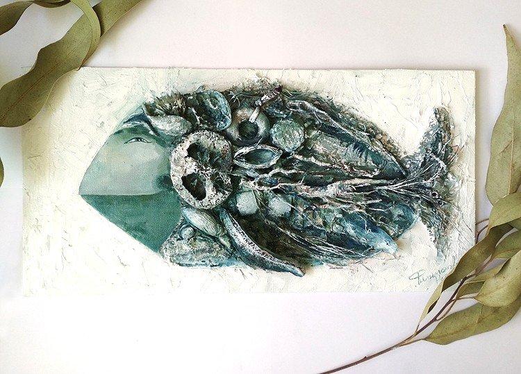 """Автор: artistnat, Фотозал: Мое хобби, Картина в технике """"терра"""". Холст на картоне, масло."""