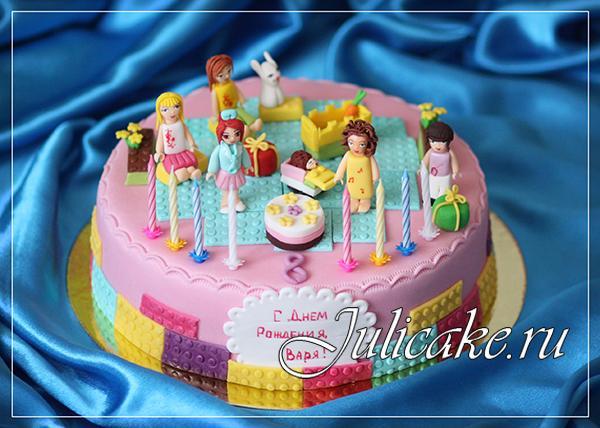 лего френдс торт фото