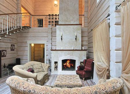 дизайн загородного кирпичного дома внутри фото