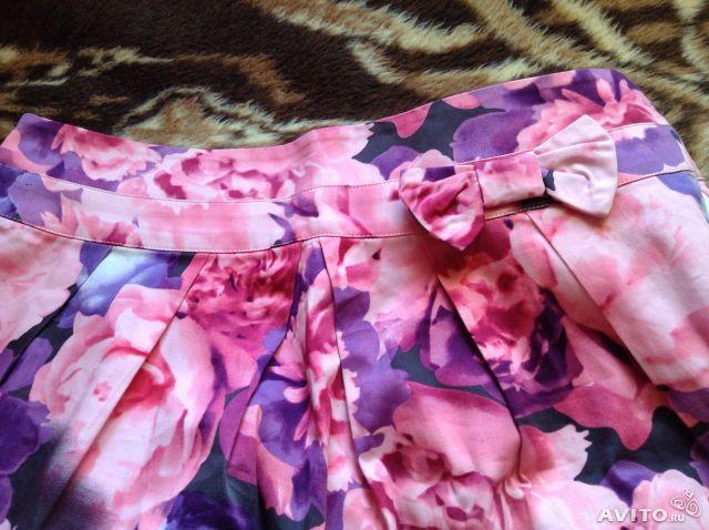 Новая юбка хлопок. р.46-48 Выше колен, плотный хлопок.   Цена 500 руб.