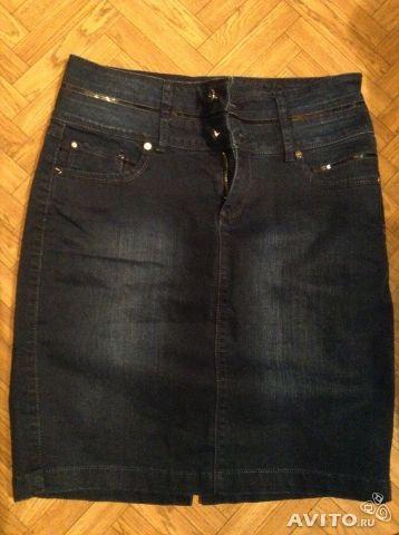 Джинсовая юбка 46-48