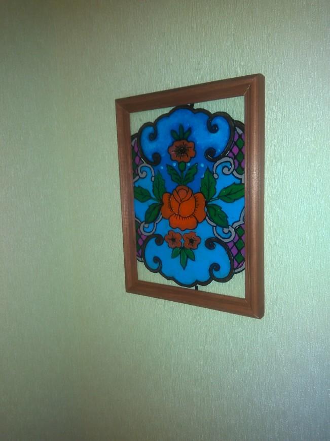 Мои первые работы - роспись по стеклу