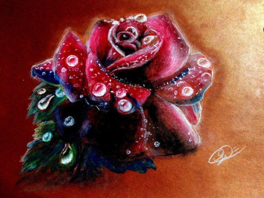 Автор: Светлана Ярославцева, Фотозал: Мое хобби, Ваня нарисовал масляными мелками.
