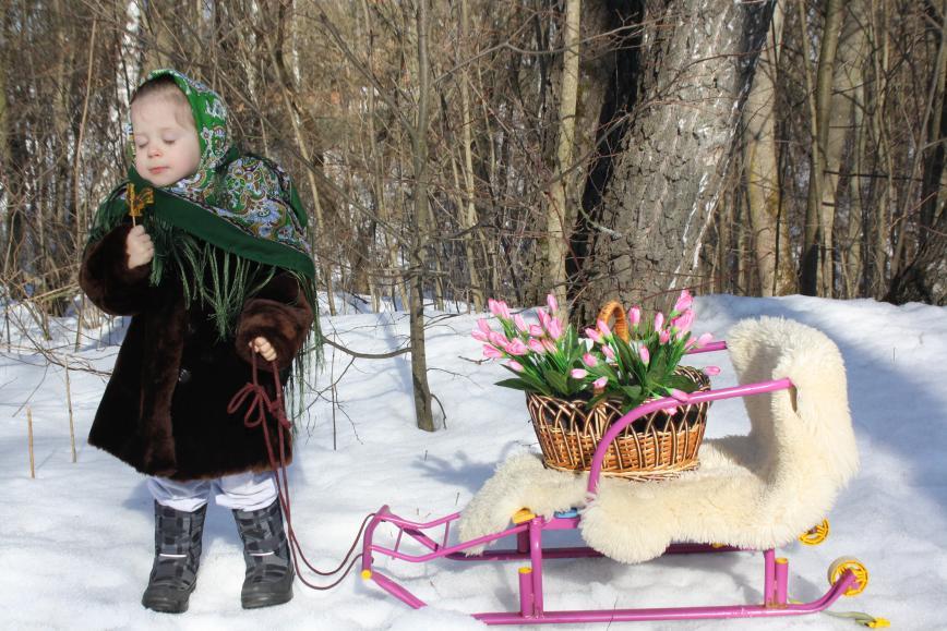 Автор: kovrizka, Фотозал: Наши Дети, Везу весну!