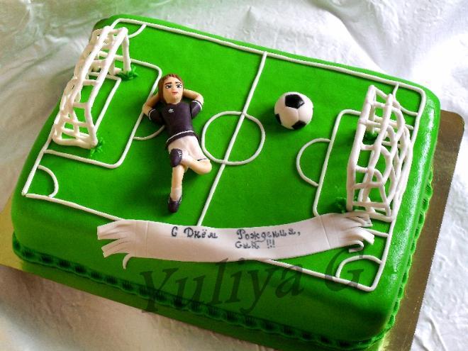 Фото тортов с футбольным поле