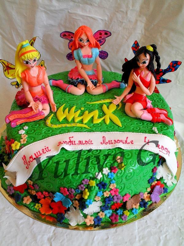 торт с феями винкс фото