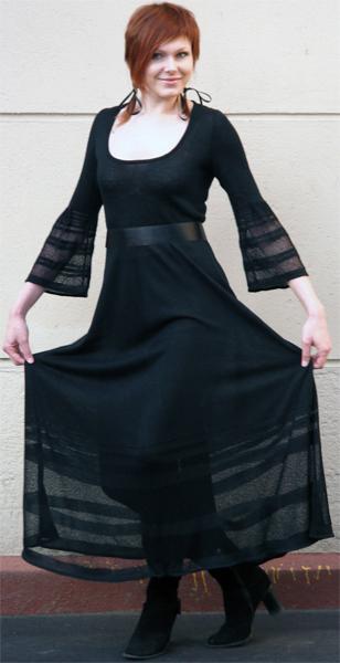 Платье машинная вязка (7 класс). П/ш Australia + Ilaria Корсар.