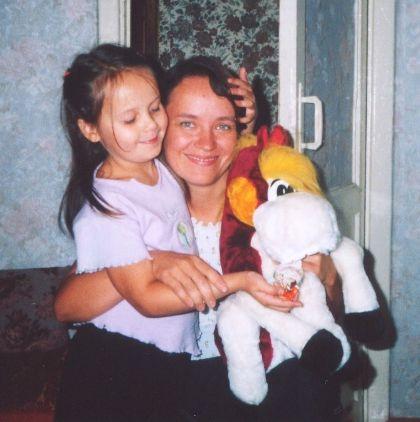 А это я с доченькой Дашей