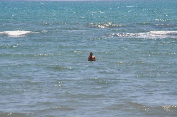 а это я далеко в море
