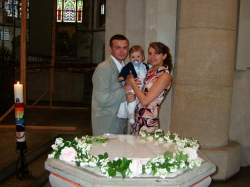 s krjostnymi dyadya Sergej (mamin brat) i tjotya Lena (mamina sestra)