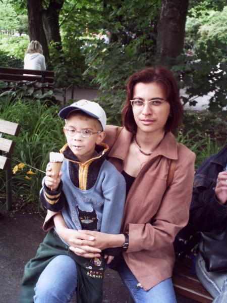 старинная фотографиё: мы в зверячьем парке
