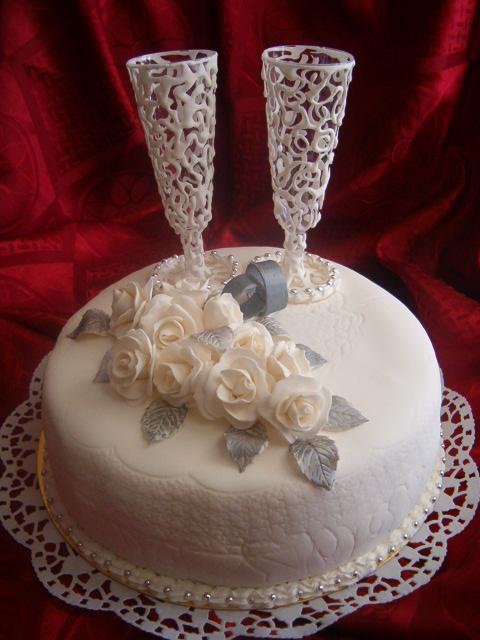 торт насеребрянную свадьбу рецепт с фото