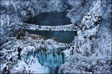 Замерзшие Плитвицкие озера, Хорватия
