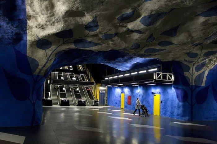 Шведское метро – произведение искусства