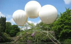 Подвесной мост на трех воздушных шарах