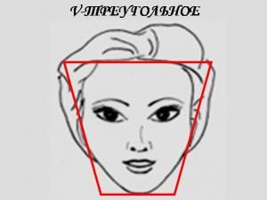 Типы лица : Коррекция этого типа лица заключается в уменьшении объема верхней и основной частей лица (темная пудра наносится на височную и боковую