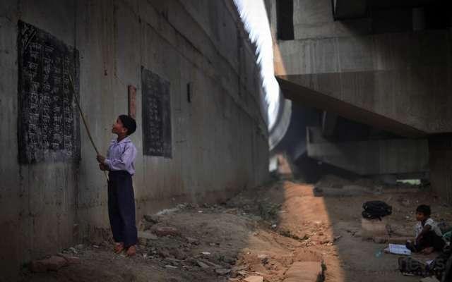 Школа под мостом