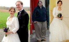 Невеста похудела на 64 кг. ради свадебного платья