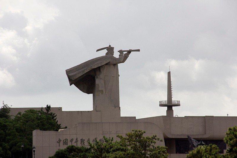 Автор: Розабельверде, Фотозал: Туристические зарисовки, Мемориал и музей японо-китайской войны 1894-1895 гг. на острове Люгун. Здесь был последний рубеж обороны.