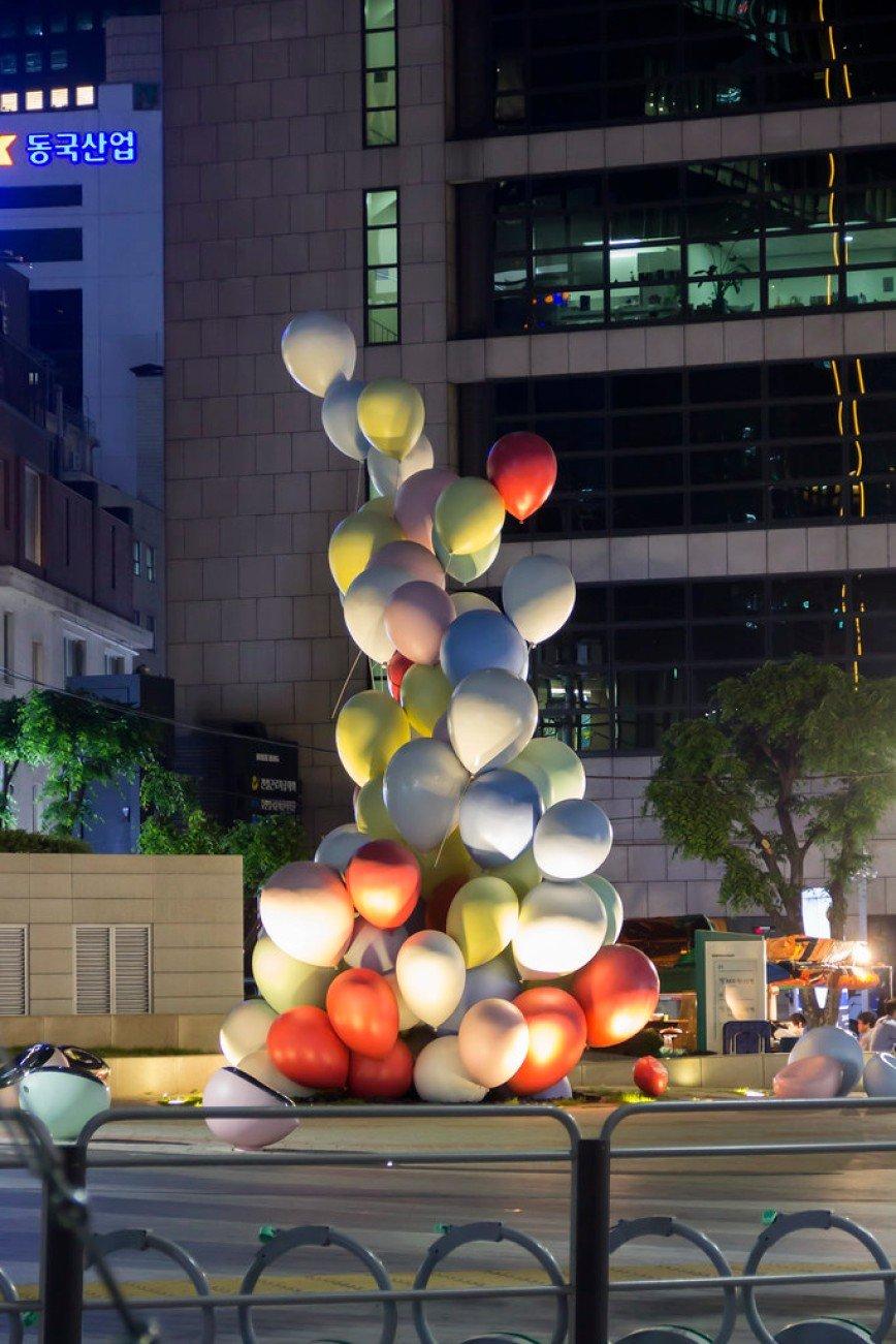 Автор: Розабельверде, Фотозал: Туристические зарисовки, Городская скульптура в Сеуле очень разнообразна!