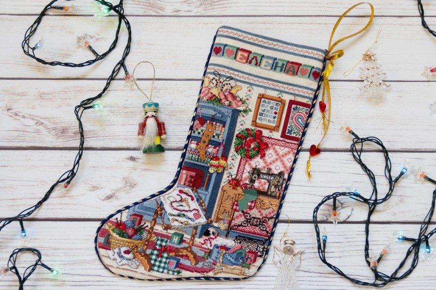 Автор: Розабельверде, Фотозал: Мое хобби, Stitcher's Studio Stocking. Восемь лет с первого стежка. ;)