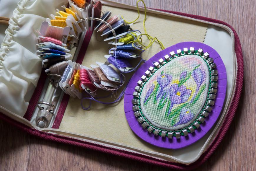 """Автор: Розабельверде, Фотозал: Мое хобби, """"Краски весны"""". Организатор для ниток."""