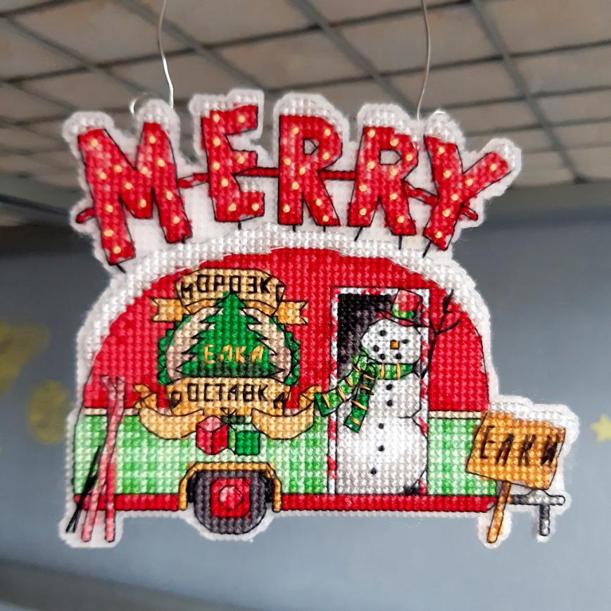 Автор: Розабельверде, Фотозал: Мое хобби, Holiday Truck Ornament 1 от Dimensions